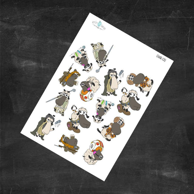 Planner Stickers Light Side Sheeple Characters
