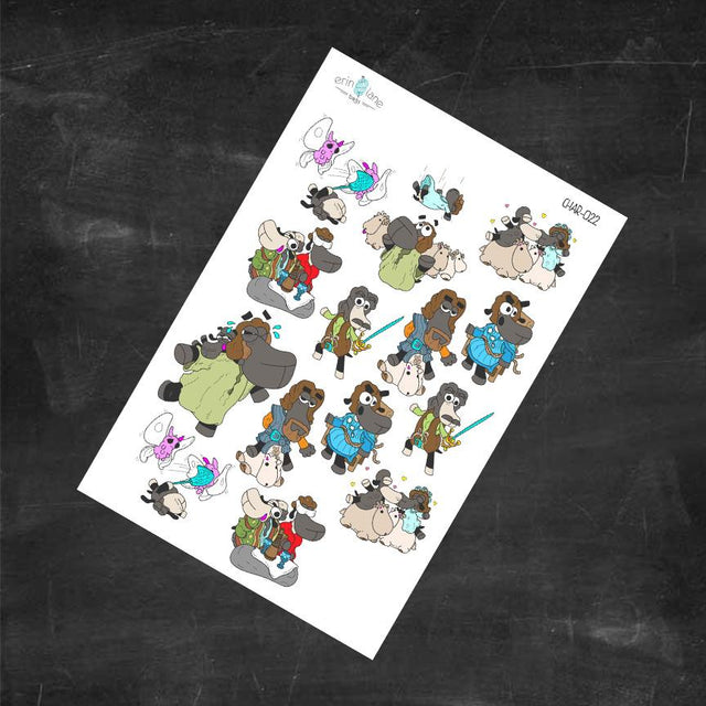 Planner Stickers Princess Bride Sheeple Characters