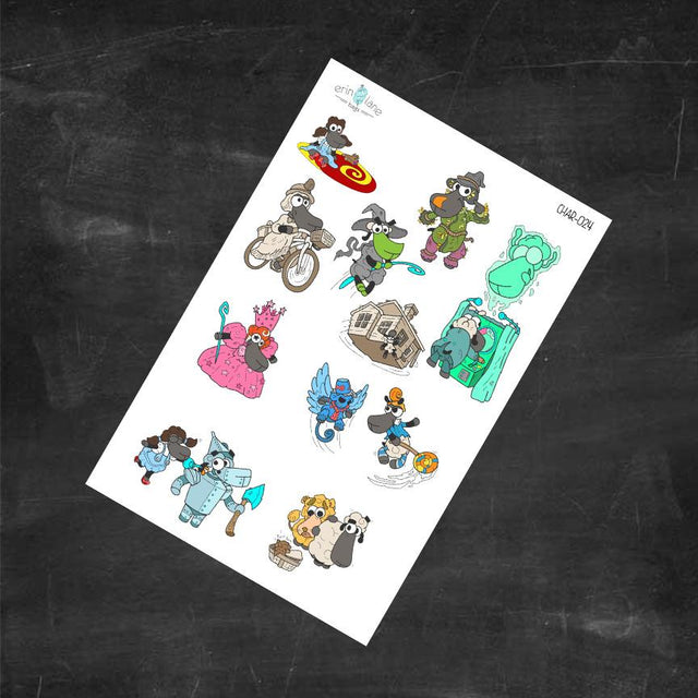 Planner Stickers Wizard of Oz Sheeple Stickers