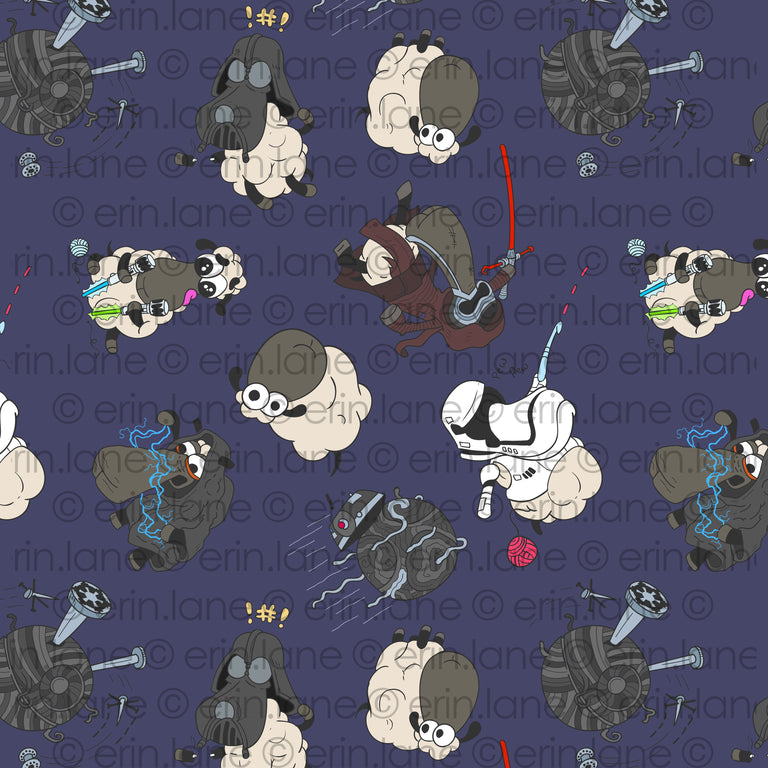 Half Yard of Dark Side Sheeple Fabric