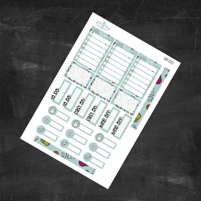"Planner Stickers in Daily Larry ""Balls."""