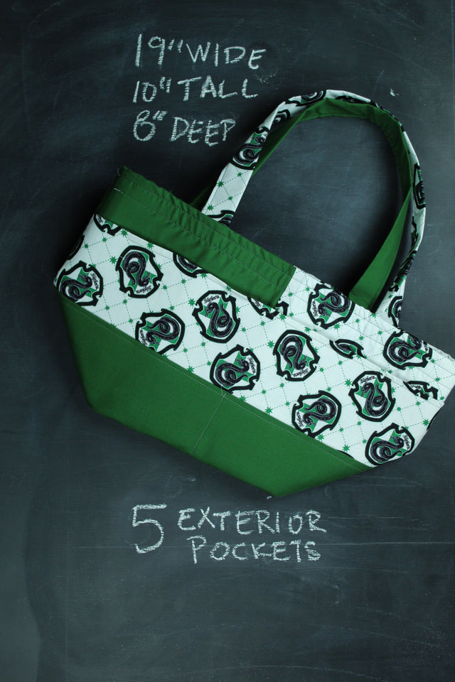 Barrel Tote In Slytherin Crest Tote
