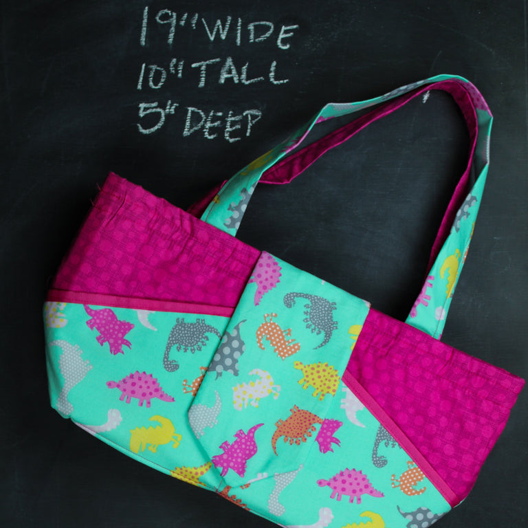 Ewesful Tote Bag in Dino Dots