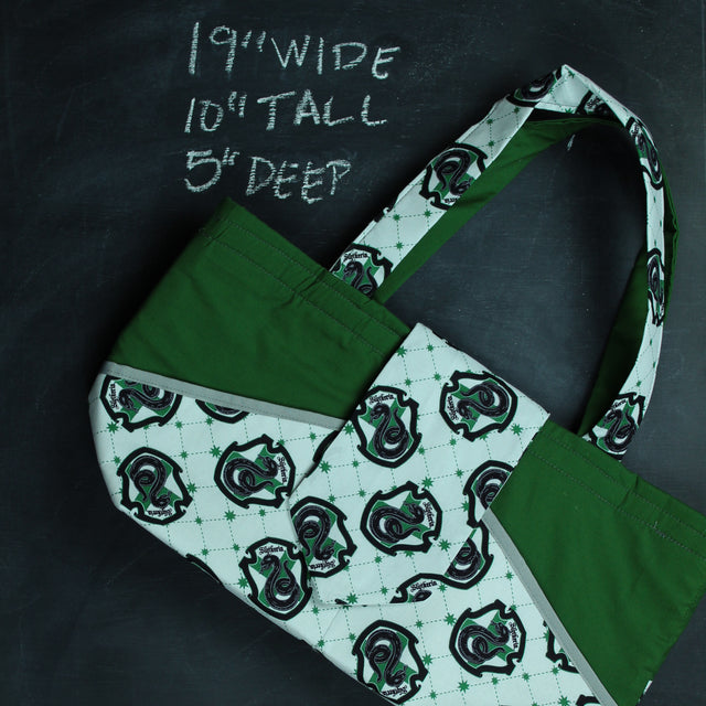 Ewesful Tote Bag in Slytherin Crest