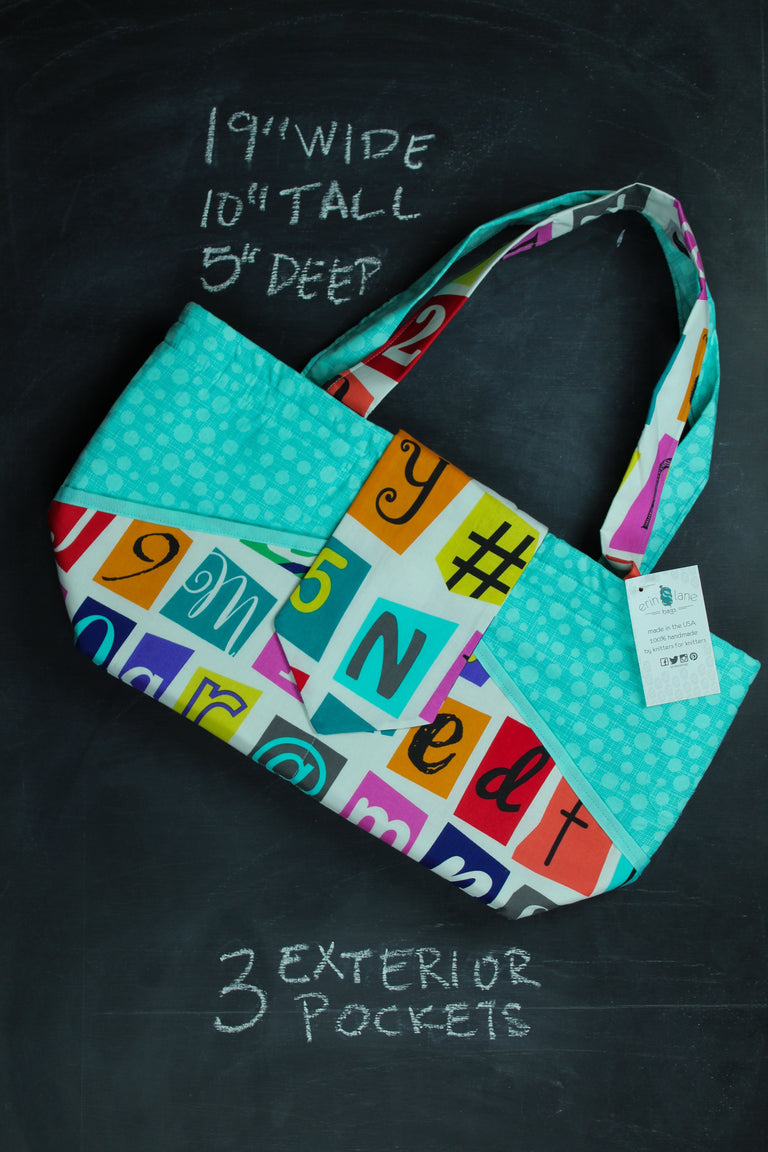 Ewesful Tote in Ransom Letters