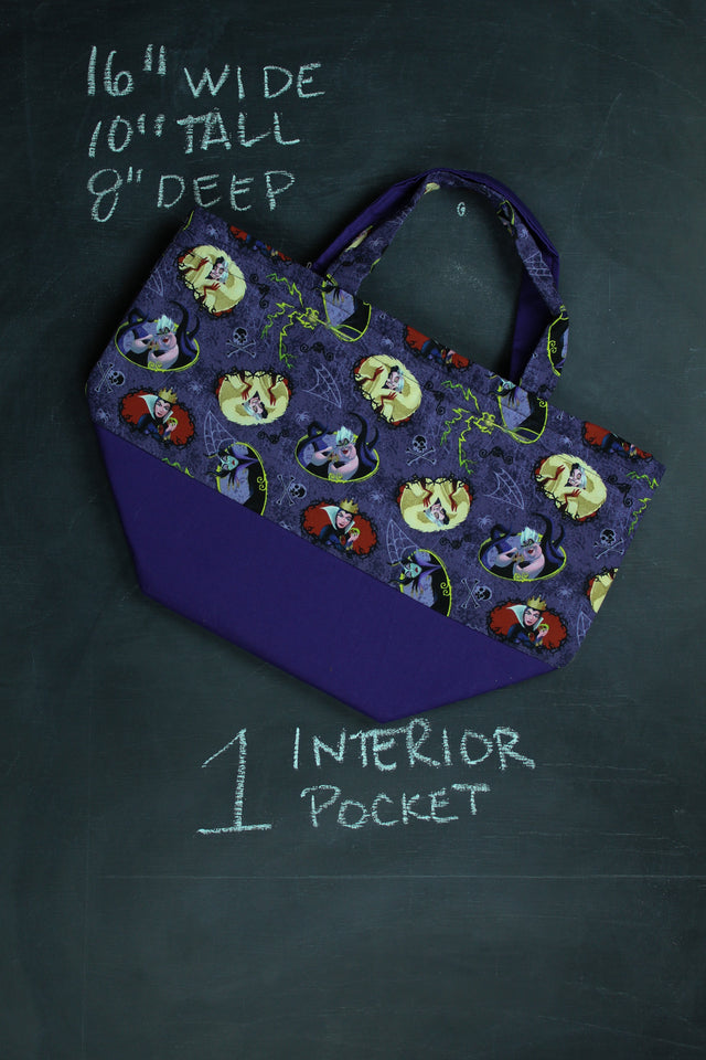 Bucket Tote in Purple Evil Queens