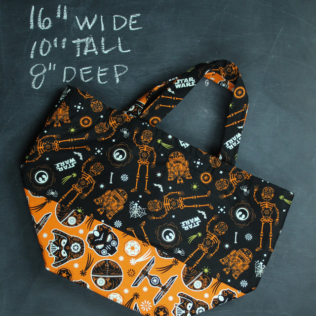Bucket Tote Bag in Light Side and Dark Side