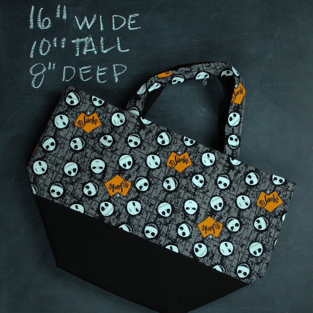 Bucket Tote Bag in Jack Heads Moods