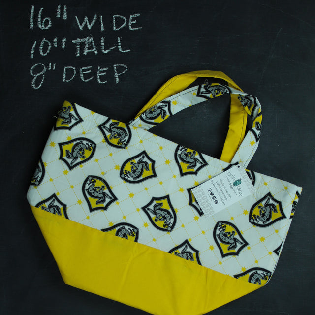 Bucket Tote in Hufflepuff Crest