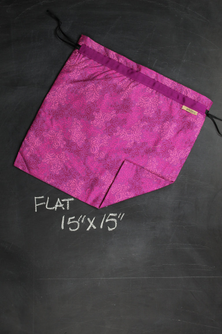 Large Project Bag in Fuschia Drops