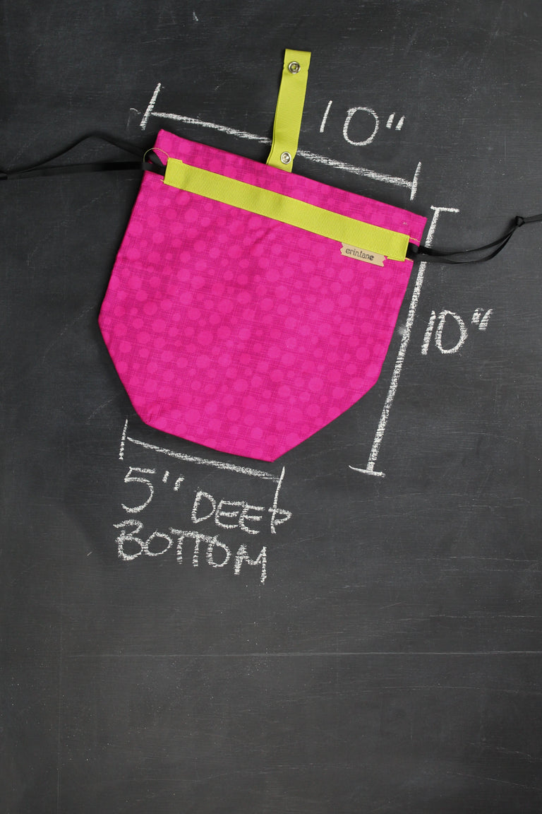 Sock Project Bag in Bonehead Accent Pink