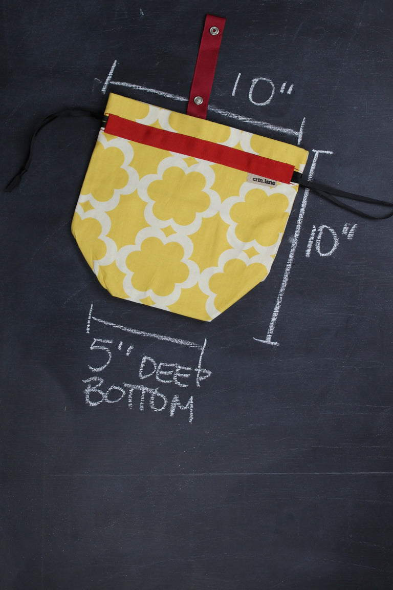 Sock Project Bag in Yellow Quarterfoil