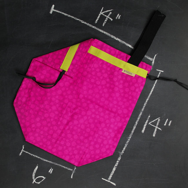 Sweater Project Bag in Bonehead Accent Pink