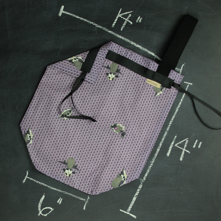Sweater Project Bag in Purple Peek Sheeple