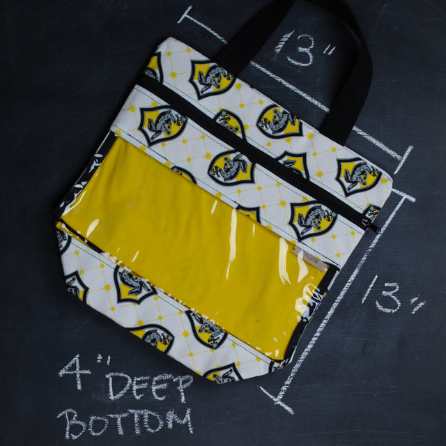 View Ewe Tote Bag in Hufflepuff Crest
