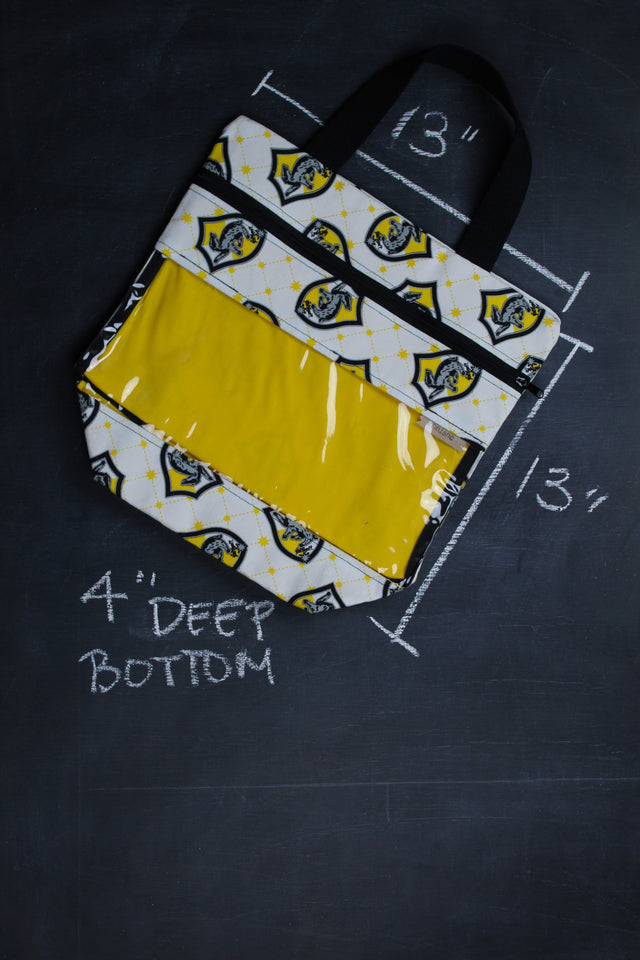 View Ewe Tote Bag In Hufflepuff Crest Tote