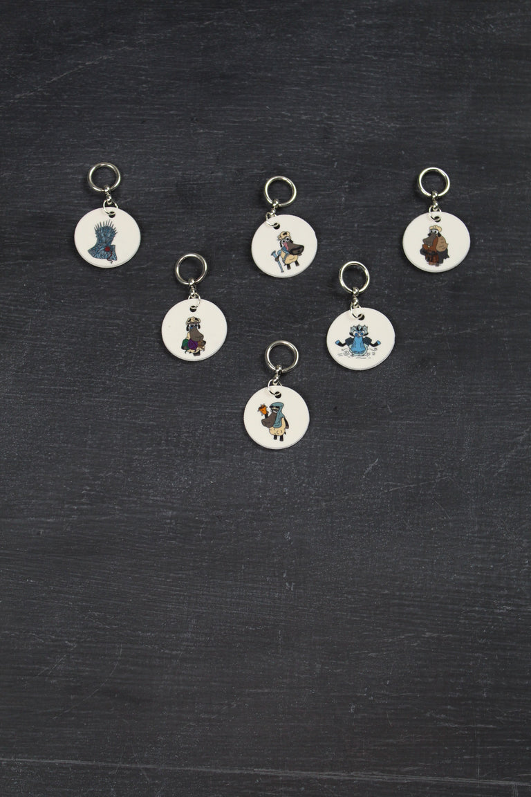 Stitch Marker Set in Game of Thrones Sheeple