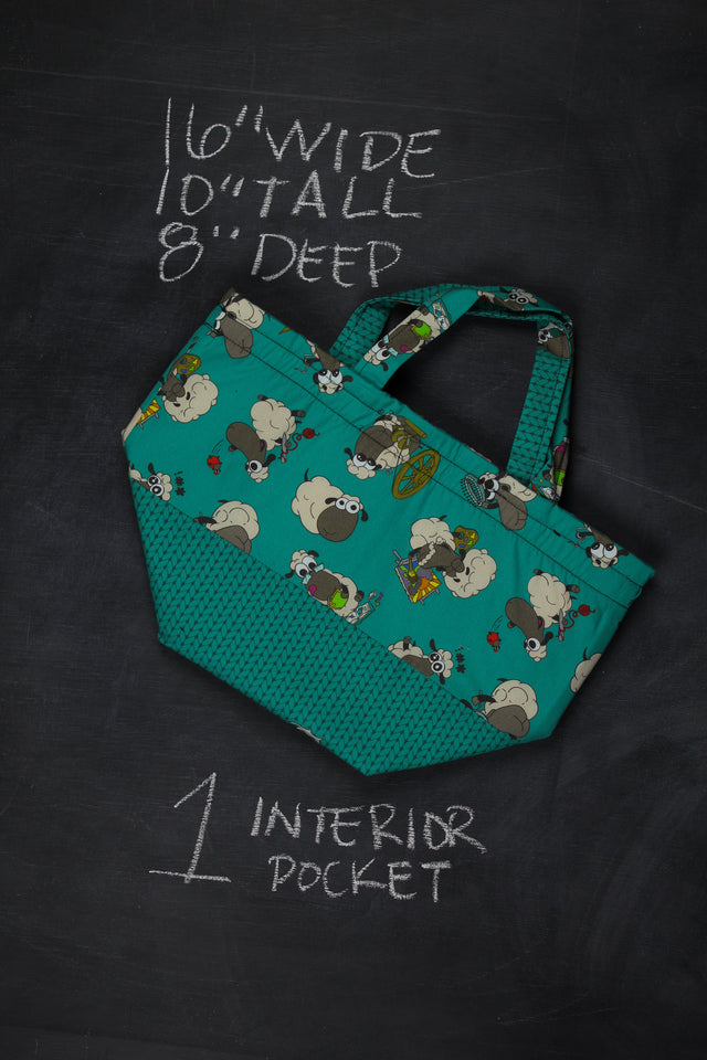 Bucket Tote Bag in Crafting Sheeple