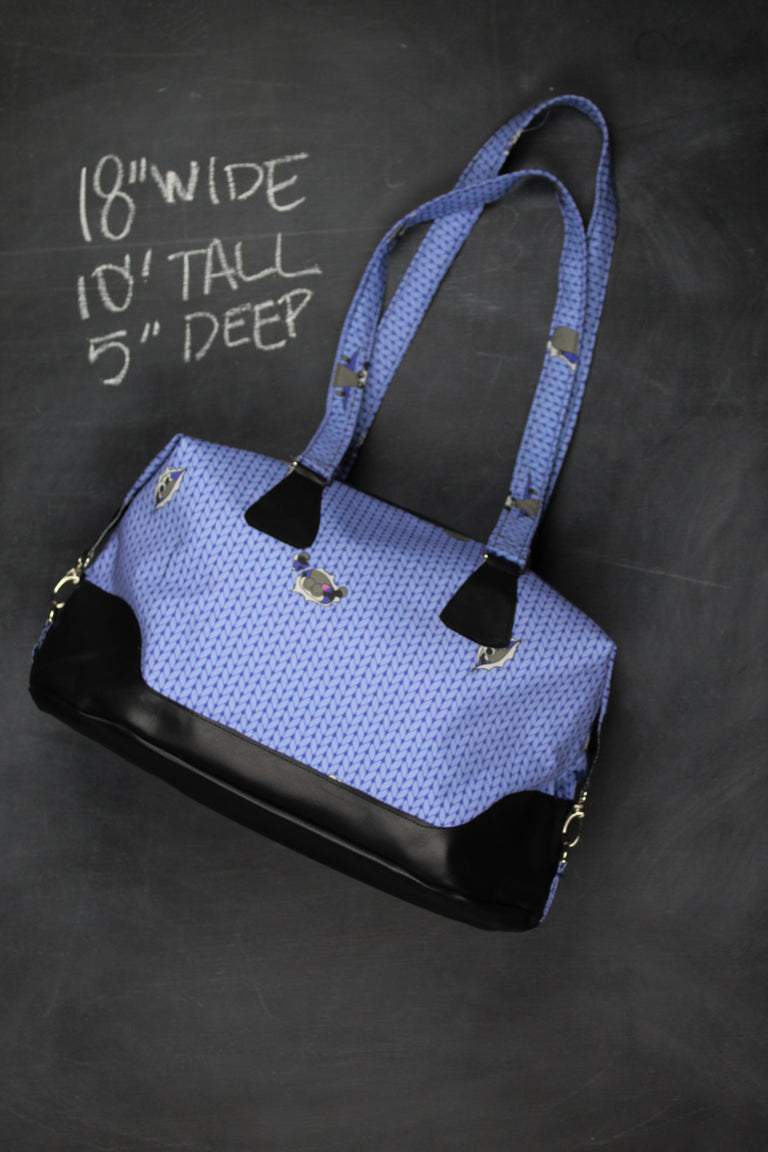Traveller Tote Bag in Sky Blue Stockinette