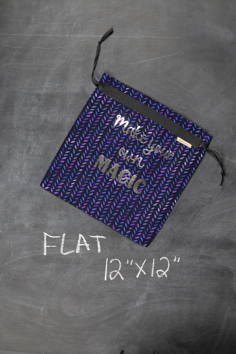 Small Project Bag in Purple Stitches Make Your Own Magic