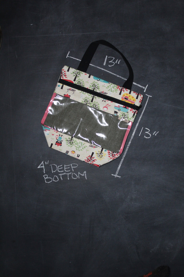View Ewe Tote Bag in Glamping Creatures