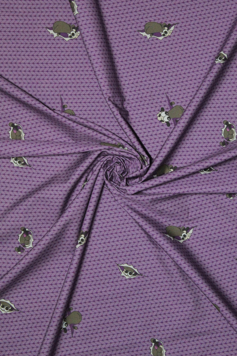 Half Yard of Plum Stockinette Sheeple Fabric