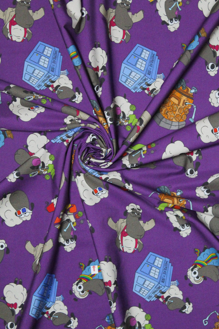 Half Yard of Dr Who Sheeple Fabric