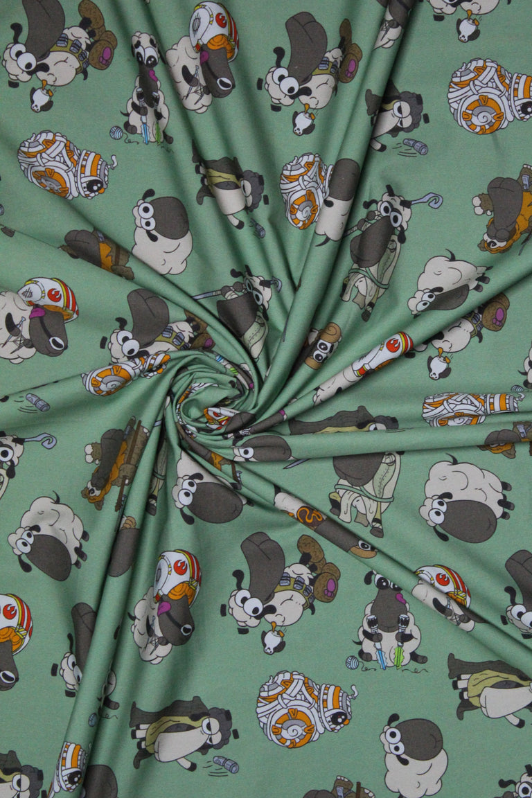 Half Yard of Light Side Sheeple Fabric