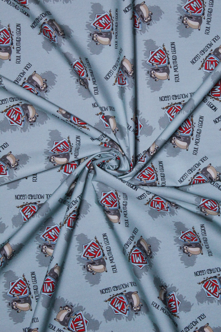 Half Yard of Foul Mouthed Legion Fabric