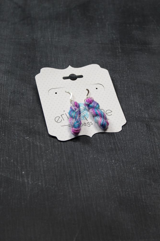 Mini Hank Earrings in Party Streamer