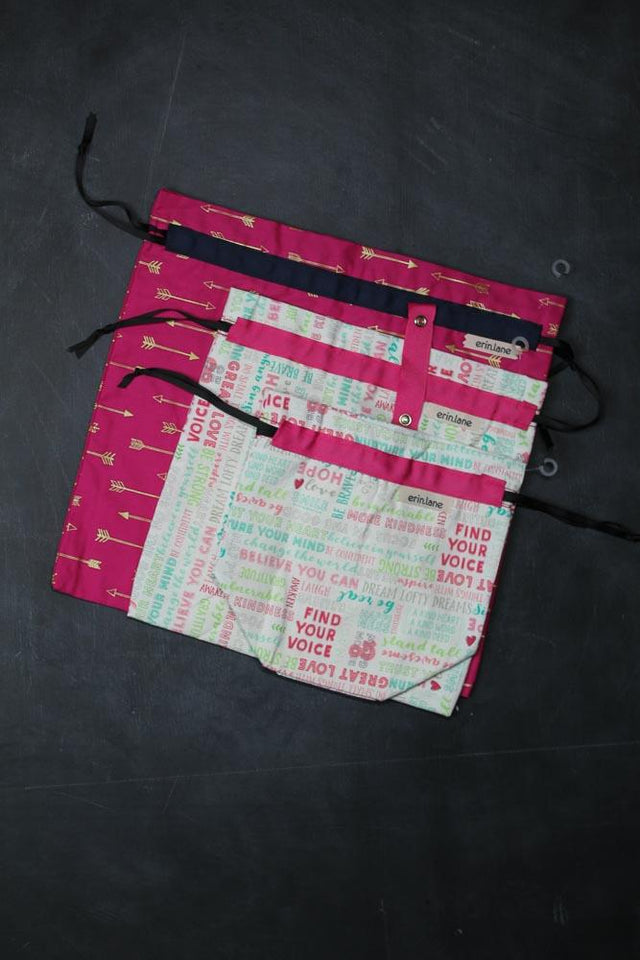 Three Bag Bundle in Brilliant Pinks