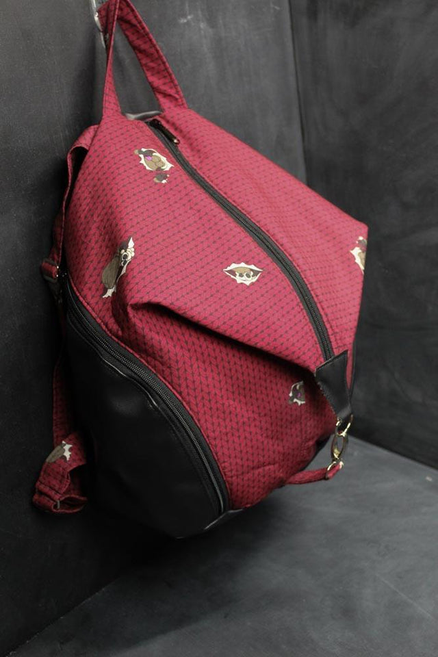 Denver Backpack in Burgundy Stockinette