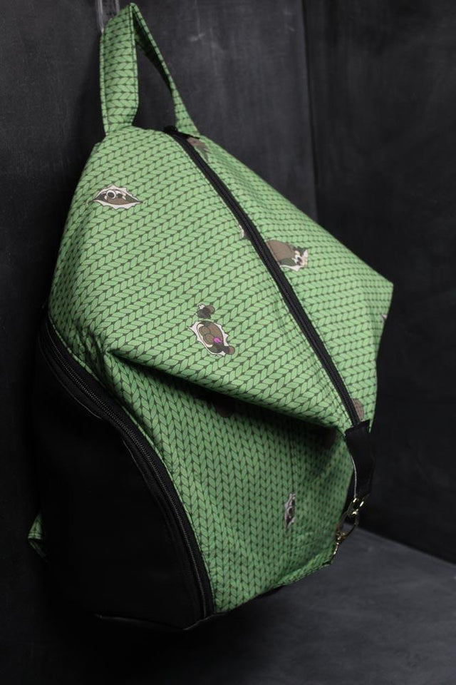 Denver Backpack in Green Stockinette