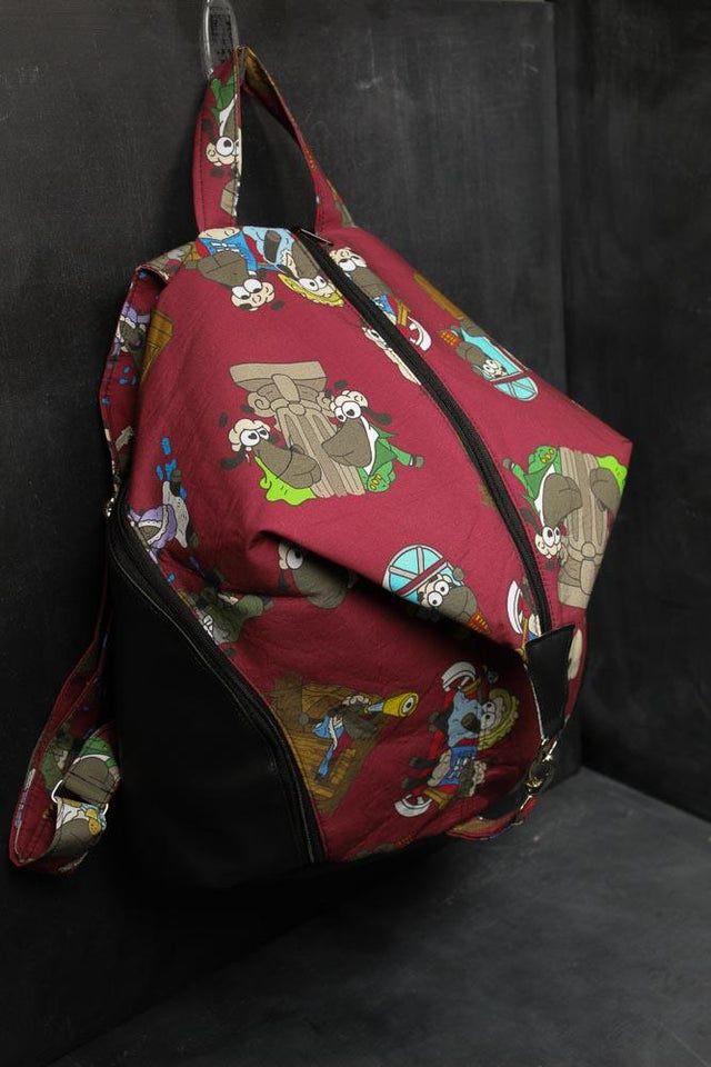 Denver Backpack in Jane Austen Sheeple