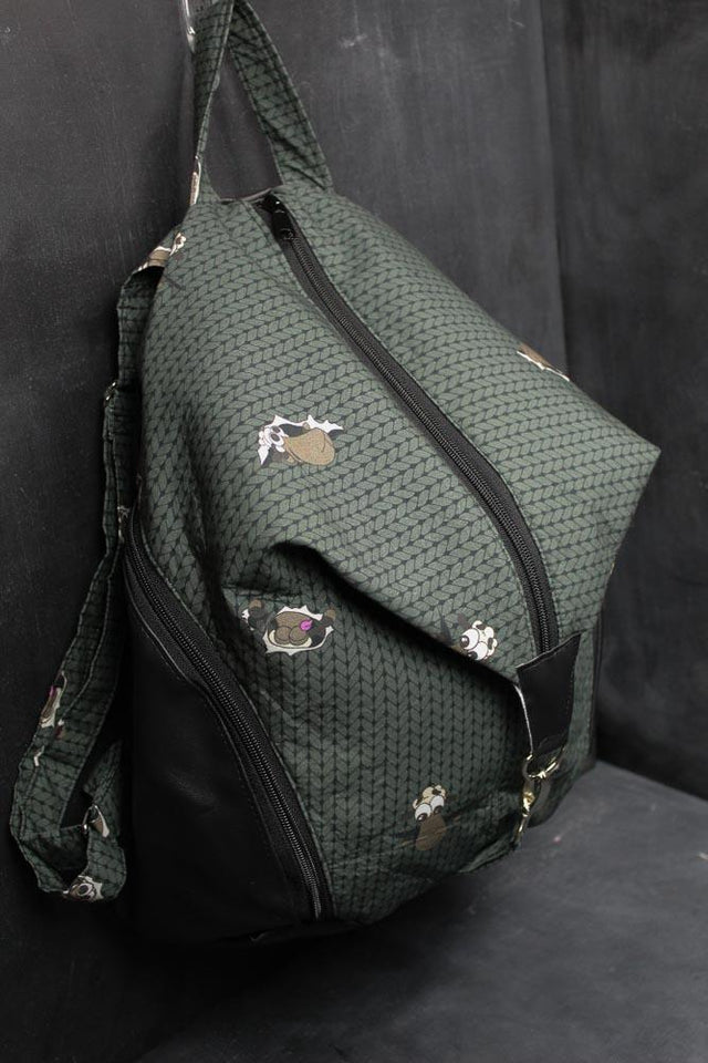 Denver Backpack in Hunter Green Stockinette