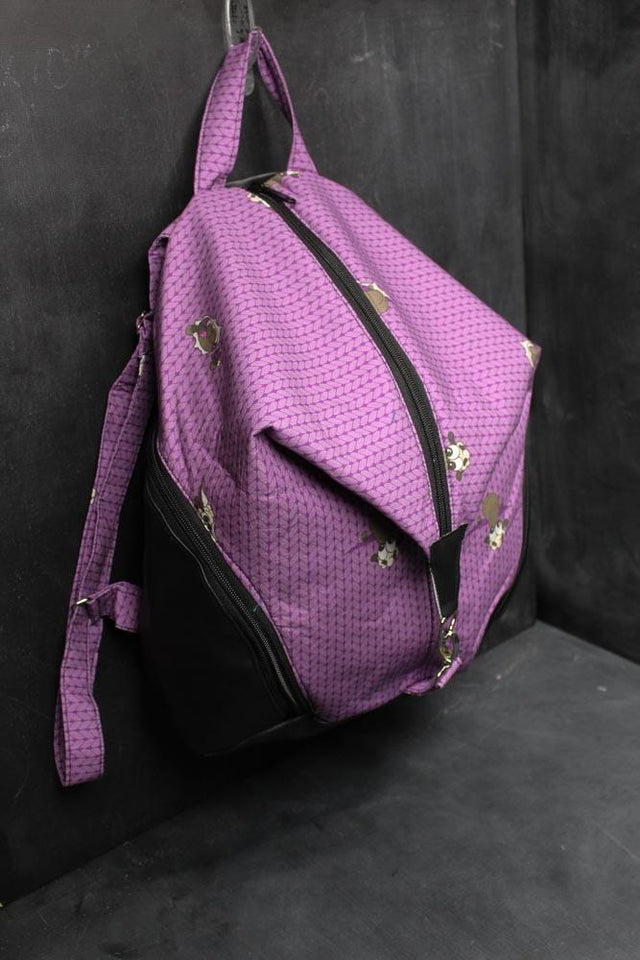 Denver Backpack in Plum Stockinette