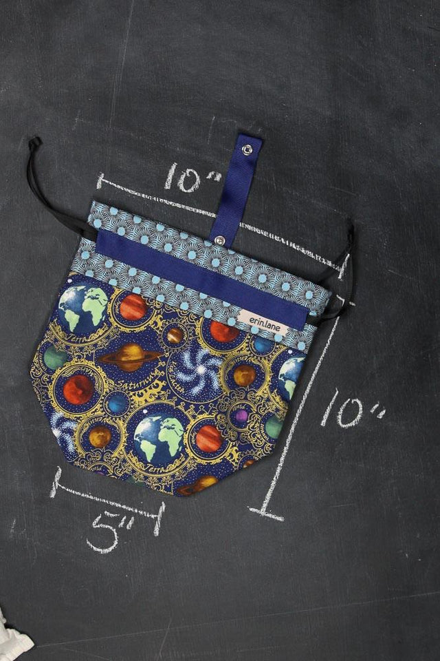 Sock Project Bag in Guilded Planets