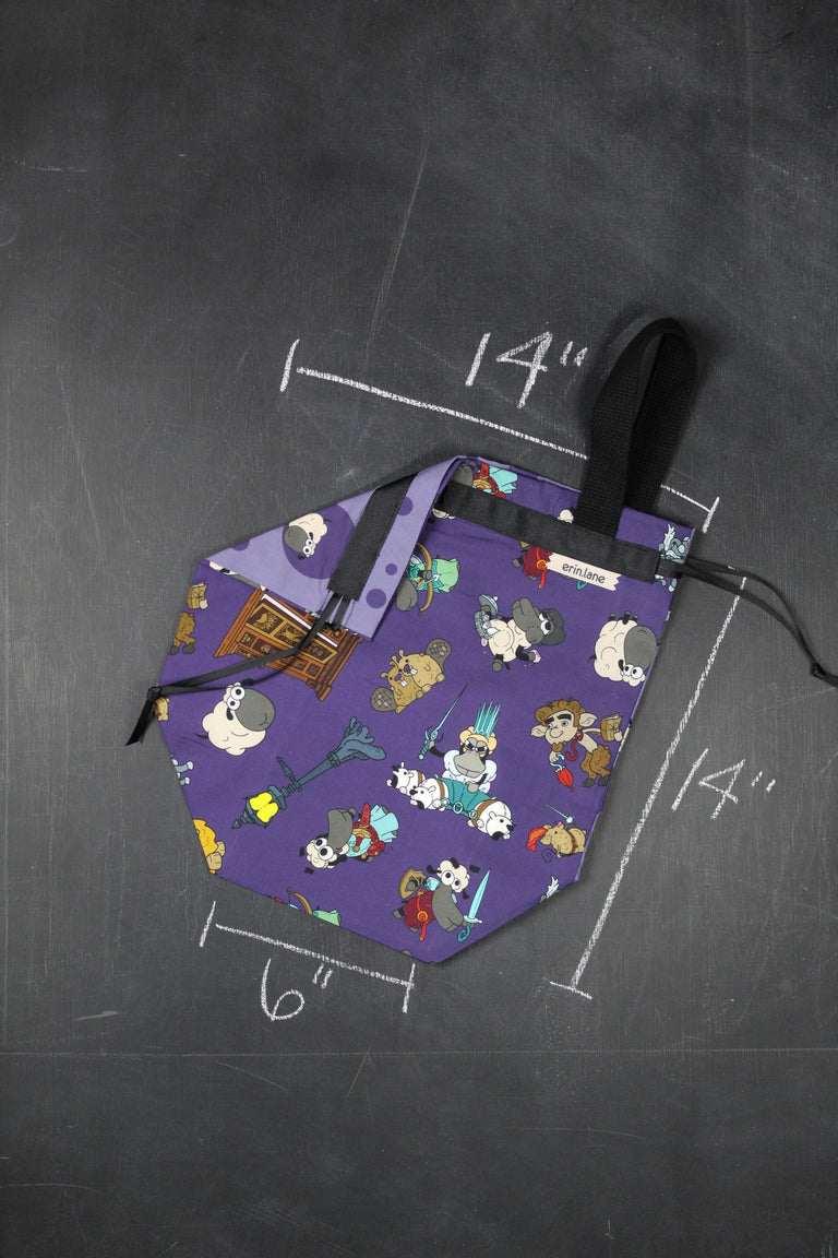 Sweater Project Bag in Narnia Sheeple