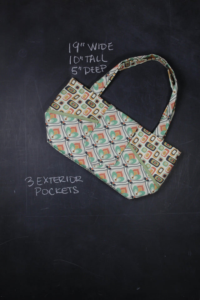 Ewesful Tote Bag in 70's Hearth and Home