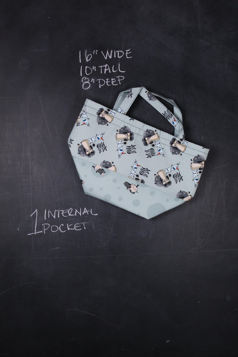 "Bucket Tote Bag in Larry ""Let It No"""