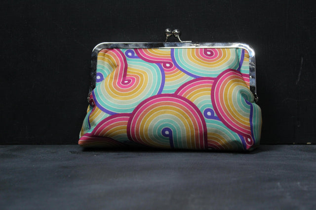 Chomp Chomp Clutch Bag in 80's Mall Swirl
