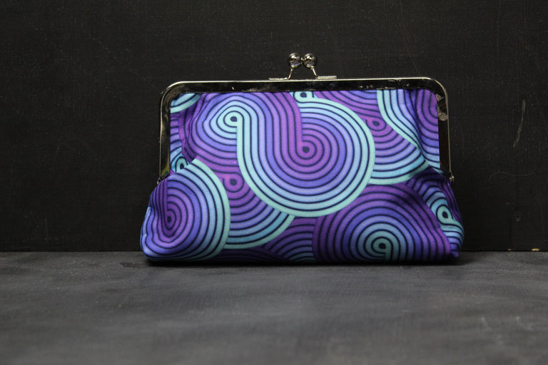 Chomp Chomp Clutch Bag in 80's Upside Down Swirl
