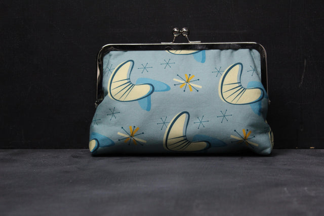 Chomp Chomp Clutch Bag in 50's MidCentry Modern