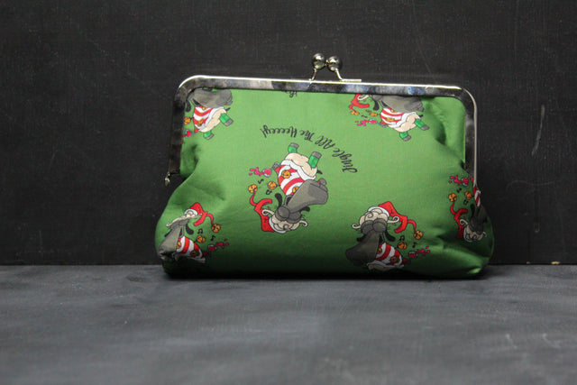 "Chomp Chomp Clutch Bag in Demi ""Jingle All the Hey"""