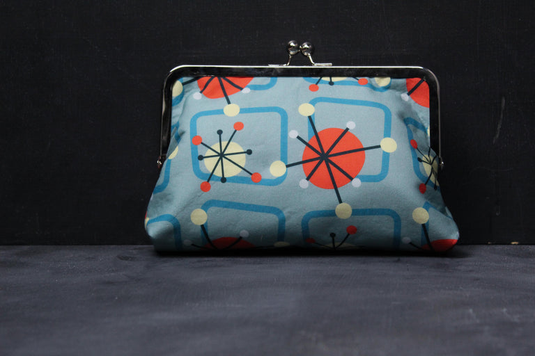 Chomp Chomp Clutch Bag in 50's Atomic Age