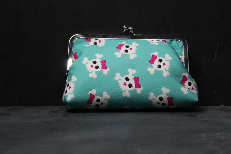 Chomp Chomp Clutch Bag in 90's Bones and Bow