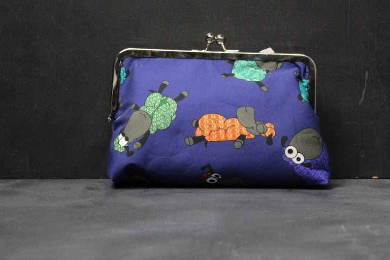 Chomp Chomp Clutch Bag in Stitchy Soiree Stitchy Sheep