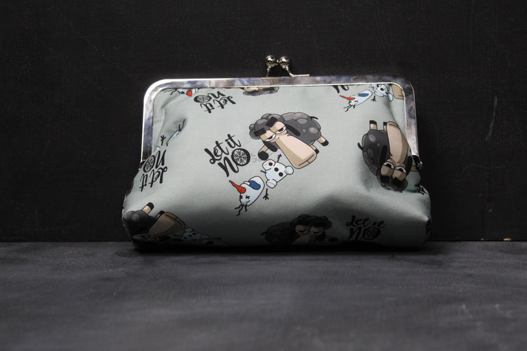 "Chomp Chomp Clutch Bag in Larry ""Let It No"""