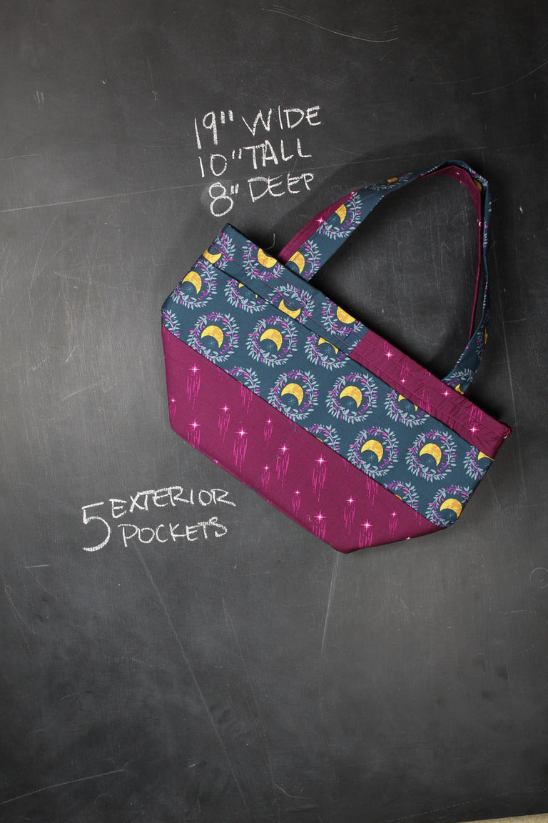 Barrel Tote in Moon Child