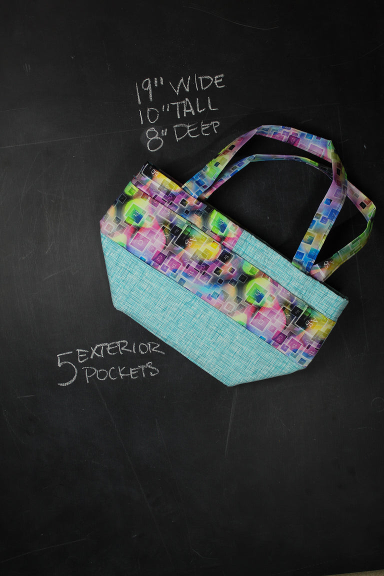 Barrel Tote Bag in Deconstructed Periodic Table